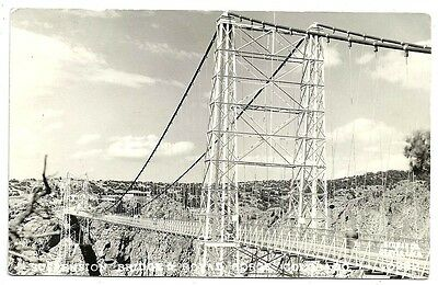 Photo Postcard ~ Suspension Bridge at the Royal Gorge c1930s