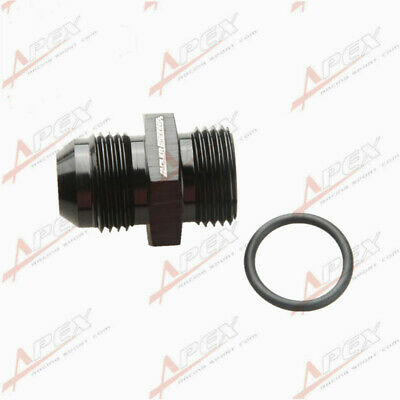 -10 AN 10AN Male Flare To -10 AN AN10 Straight Cut O-Ring Fitting Black