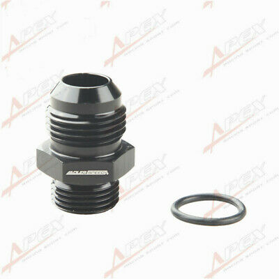 -10 AN 10AN Male Flare To -8 AN AN8 Straight Cut O-Ring Fitting Black