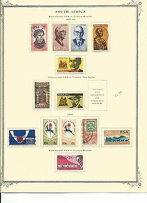 South Africa Collection 1967 to 1976 on Scott Specialty Pages, SCV $132