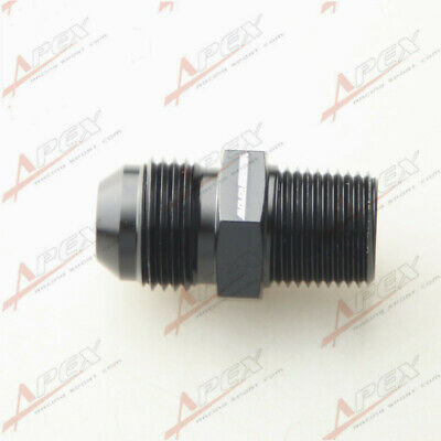 AN8 -8AN 8AN To 3/8'' NPT Straight Adapter Pipe Fuel Oil Air Fitting Black