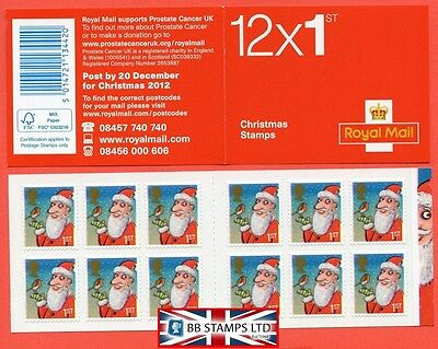 LX44 2012 12 x 1st Christmas Folded Booklet