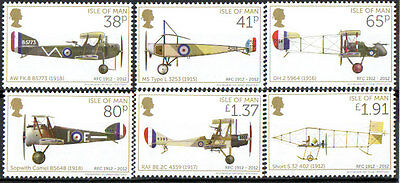 Isle Of Man 2012 Flying Corps Aircraft Unmounted Mint, Mnh