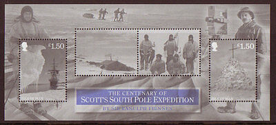 Isle Of Man 2012 Scott South Pole Expedition Ms Unmounted Mint, Mnh