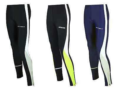 AIRTRACKS Winter Funktions Laufhose Lang / Thermo Running Tight / Reflektoren