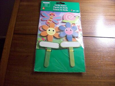 Package of 4 Wooden Garden Stakes