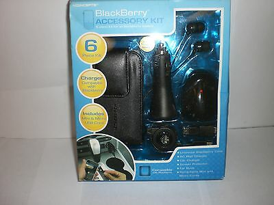 iCONCEPTS BLACKBERRY 6 PIECE ACCESSORY KIT NEW IN PACKAGE