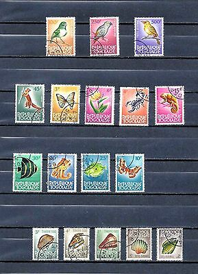 TOGO STAMPS ~ 1960's Sets - Birds Animals Fauna Seashells Fish of Togo Africa