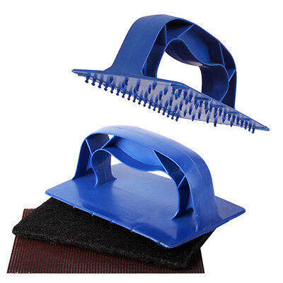 Blue Griddle Scourer Holder, Pad & Mesh Screen For Heavy Duty Oven Cleaning X10
