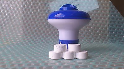 Small Dispenser with 30 Chlorine Tablets 20g for pools and spas intex pools