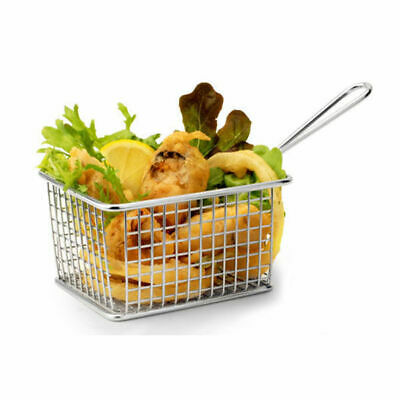 6 x Serving Basket in Fryer Style, Athena, Rectangular, 142mm