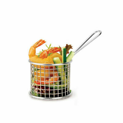 6 x Serving Basket in Fryer Style, Athena, Round, 93mm