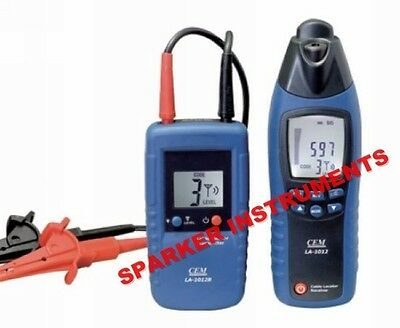 NEW CEM LA-1012 General Purpose Cable Locator Tester Meter with Transmitter
