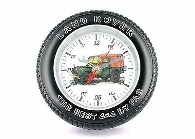 Land Rover Tyre Clock Series 1 - Wall or Free Standing