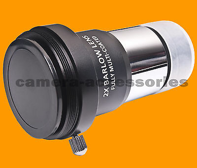 "2x Multi-coated Barlow Lens for Standard 1.25"" inch Telescope Eyepiece Astronomy"