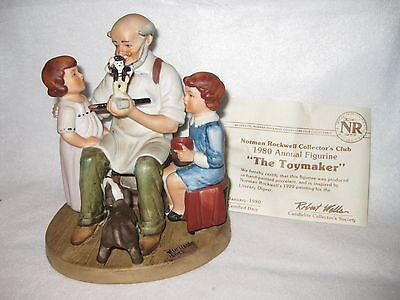 Norman Rockwell The Toymaker collectors figurine