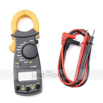 Portable AC DC Voltage LCD Mini DIGITAL Clamp Multimeter Electronic Tester Meter