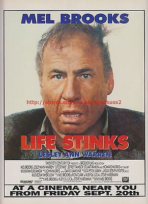 Life Stinks Mel Brooks 1991 Magazine Advert #7690