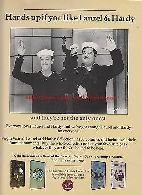 Laurel & Hardy Collection 1991 Magazine Advert #7691