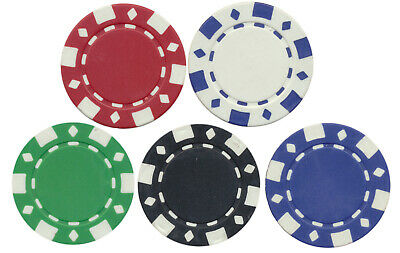 NEW 100 CLAY FAD DIAMOND  ROULETTE, POKER, TOURNAMENT CHIPS Custom SET 11.5 gr *