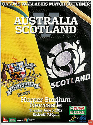 SCOTLAND BEAT THE WALLABIES 9-6 in 2012 - ***OFFICIAL RUGBY PROGRAMME***