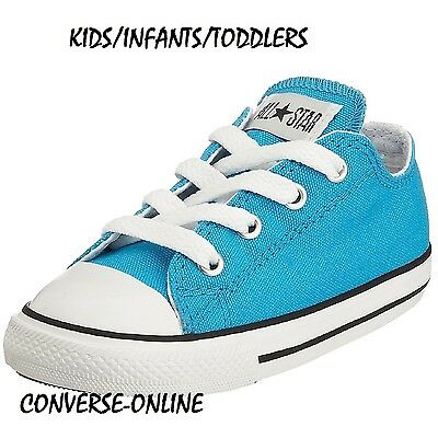KIDS Babies Boy's Girls CONVERSE All Star VIVID BLUE Trainers Shoes SIZE 20 UK 4