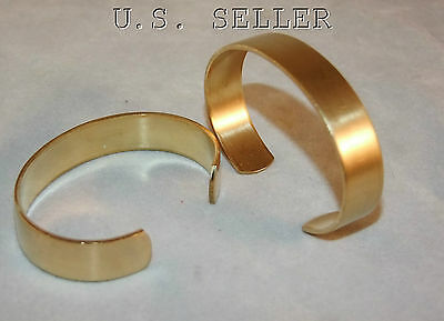 Brass Bracelet Cuff Blanks Wholesale Lot 3/4 inch Pkg Of 12