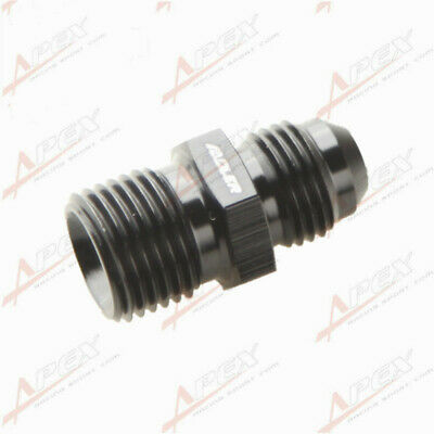 Male -6AN 6AN AN-6 AN6 Flare To M16x1.5 Metric Straight Fitting Black