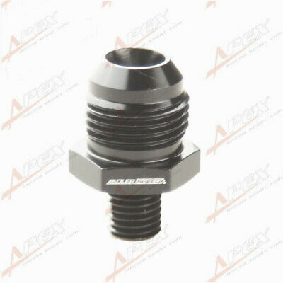 Male -10 AN 10AN AN10 Flare To M12x1.5 Metric Straight Fitting Black