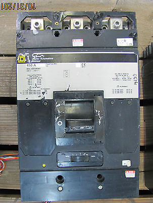 Square D Circuit Breaker MAL364508041 450A 450 A Amp 600V Type/Tipo MAL 3P Used
