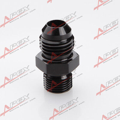Male -12 AN 12AN AN12 Flare To M18 x 1.5 Metric Straight Fitting Black