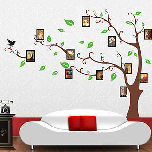 11Pcs Large Photo Tree Removable Wall Decor Vinyl Decal Sticker DIY Home Kid
