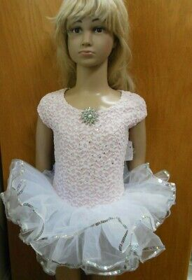 Nwt Foil Sequin Lace Overlay  Ballet Costume Organdy Tutu Pageant Small Child