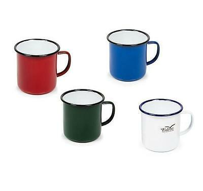 2 x ENAMEL MUG TIN CUP TRAVEL TEA COFFEE TRADITIONAL STYLE FOR CAMPING