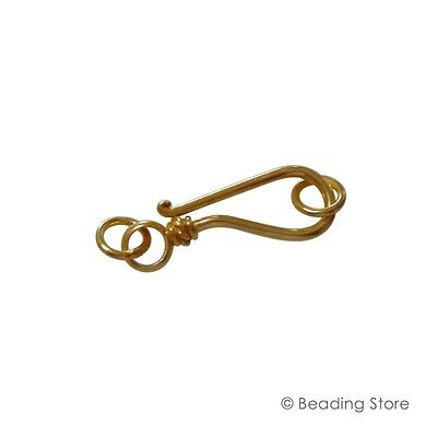 1 x Vermeil 23mm x 8mm Bali Style Clasp Clasps 24ct Gold Plated Sterling Silver
