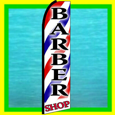BARBER SHOP SWOOPER FLAG Advertising Sign Feather Swooper Bow Banner