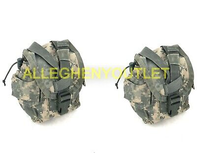 Set Of 2 Usgi Canteen Pouches Acu Molle Ii Utility Pouch Military Vgc Free Ship