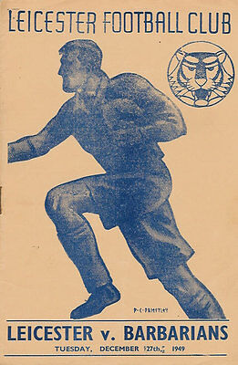 LEICESTER v BARBARIANS 1949 RUGBY PROGRAMME 27 Dec at LEICESTER