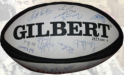 Swansea Rfc Signed Rugby Ball Genuine Autographs With Coa