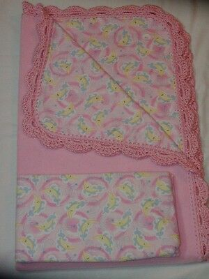 Crib Quilt/flannel Crib Sheet/handcrafted - Naptime On The Clouds With Moon