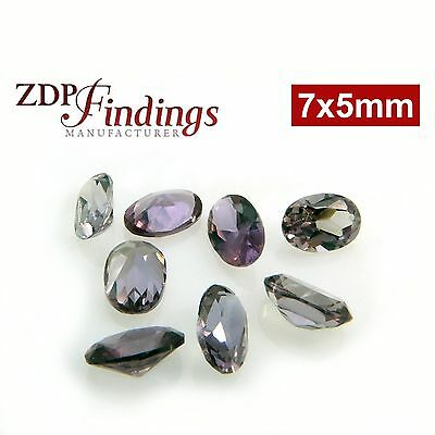 7x5mm Exclusive Oval Lab Alexandrite Color Change bright and sparkeling Gems