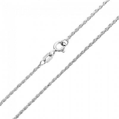 1mm STERLING SILVER 925 ITALIAN SINGAPORE ROPE TWISTED CURB CHAIN LINK NECKLACE