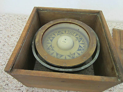 "Vintage Maritime Boat Box Compass By""sestrel"""