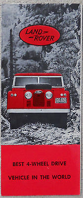 Early Land Rover  Duo-colour brochure fold out
