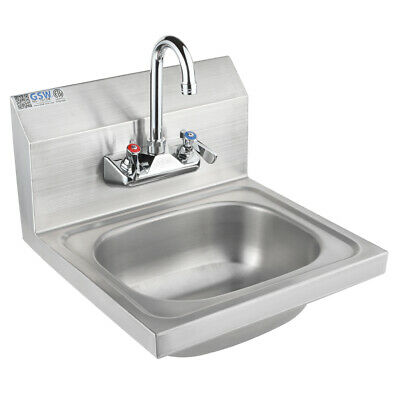 "ACE 16""x15"" Stainless Steel Wall Mount Hand Sink w/ NSF Faucet, ETL  HS-1615WG"