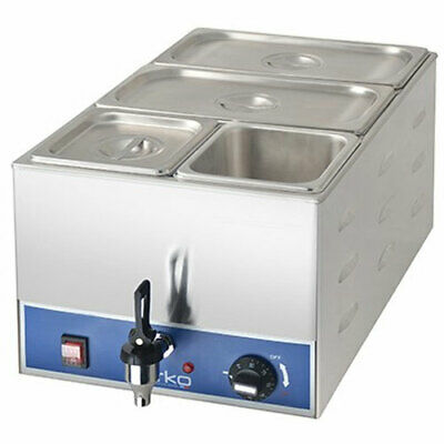 Birko Commercial Single Bain Marie with Taps & Pans - Model 1110104 - New!