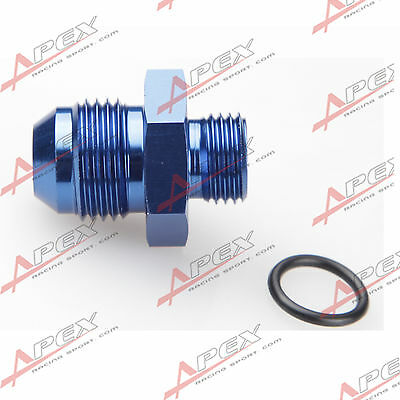-10AN AN10 Male Flare To -8AN AN8 Straight Cut O-Ring Fitting Blue