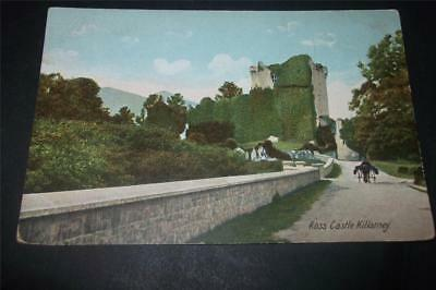 Old Postcard Of Ross Castle Killarney  - Free Uk Postage