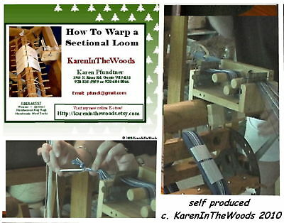 DVD or VHS - How to Warp a Sectional Loom for Weaving