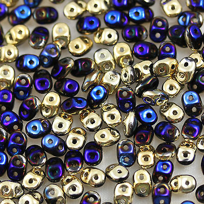 5X2.5mm SUPER DUO CZECH PRESSED GLASS BEADS - 20 gram - YOU SELECT COLORS!!!